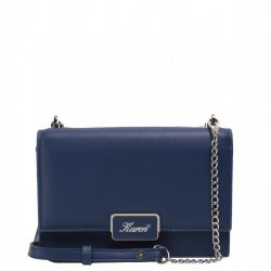 KAREN J 706 Kék rostbőr kicsi alkalmi táska
