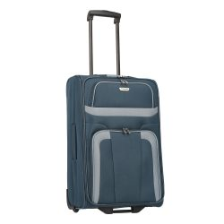 Travelite ORLANDO M kék 2 kerekű közepes bőrönd