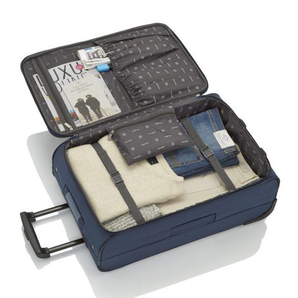 Bőrönd TRAVELITE Orlando M kék 2 kerekű közepes méret