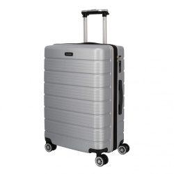 Bőrönd TRAVELITE Soho M ezüst 4 kerekű bővíthető közepes méret