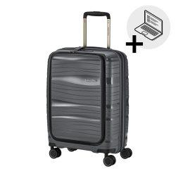 Bőrönd TRAVELITE Motion S antracit 4 kerekű laptoptartós kabin bőrönd