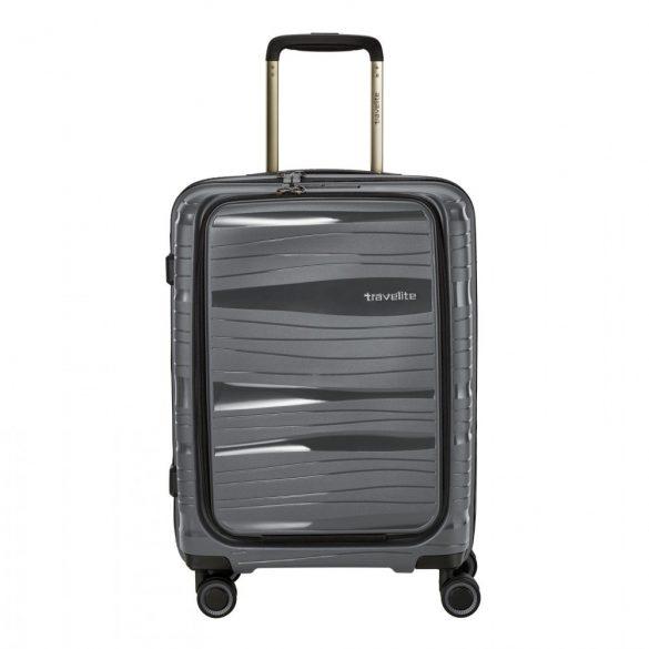 Bőrönd TRAVELITE Motion S antracit 4 kerekű laptoptartós kabin méret