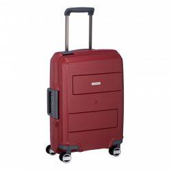 Bőrönd TRAVELITE Makro S piros 4 kerekű csatos kabin bőrönd