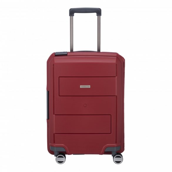 Bőrönd TRAVELITE Makro S piros 4 kerekű csatos kabin méret