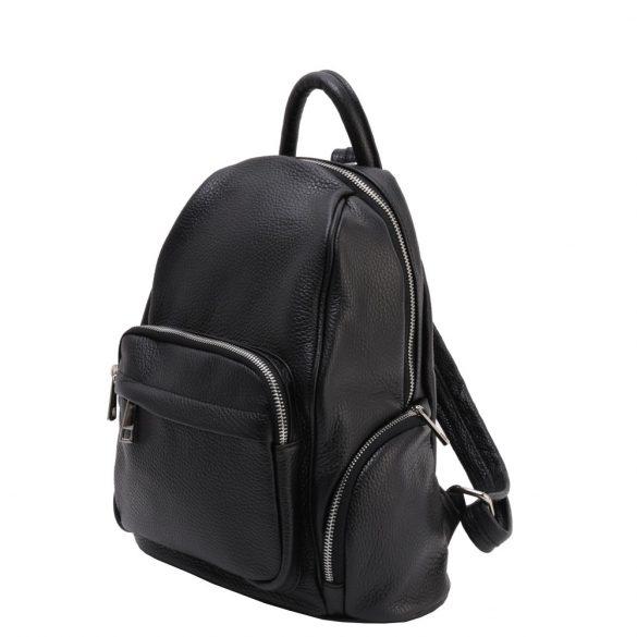 Olasz bőr hátizsák 5633 Fekete