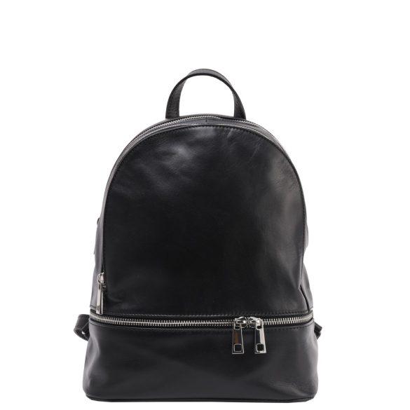 Olasz bőr hátizsák 5392 Fekete