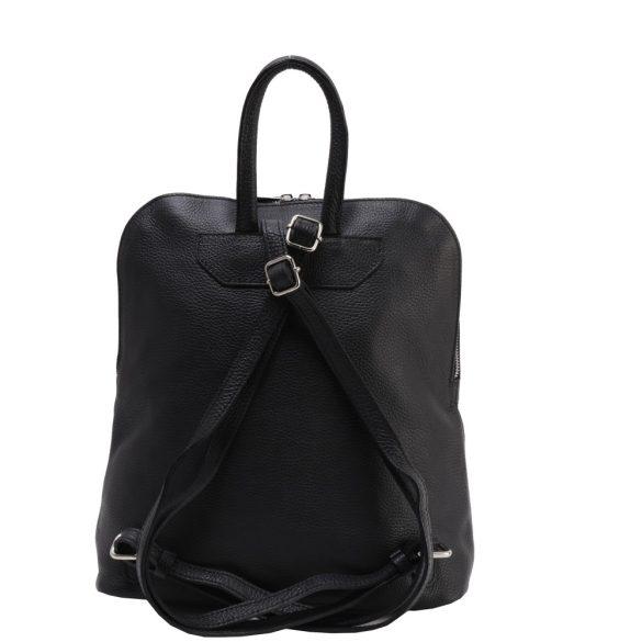 Olasz bőr hátizsák 5602 fekete