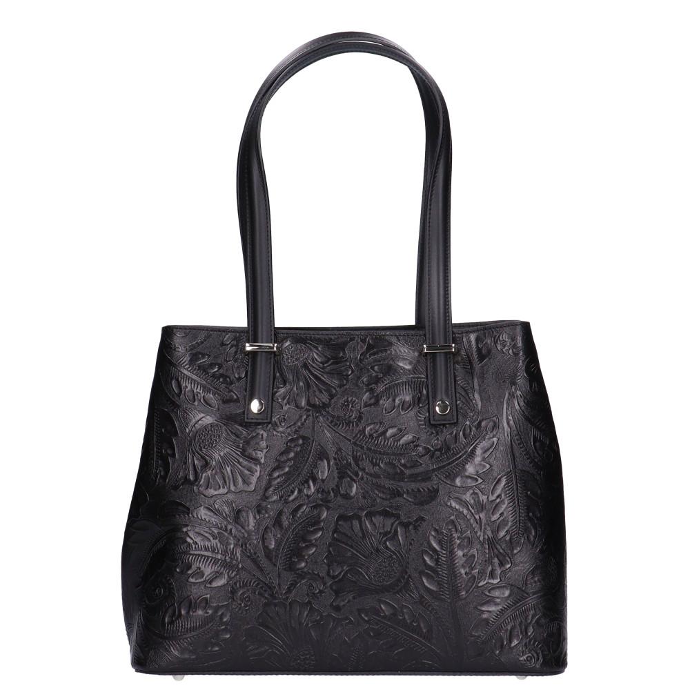 5708 fekete virágos Olasz bőr női táska - taskacentrum.hu 534c1ce8d5