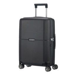 Samsonite Orfeo spinner (4 kerék) 55cm fekete kabin bőrönd