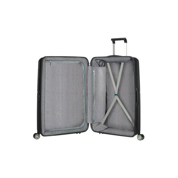 SAMSONITE Orfeo spinner (4 kerék) 69cm fekete közepes bőrönd