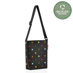 Reisenthel Shoulderbag S fekete pöttyös női bevásárló oldaltáska