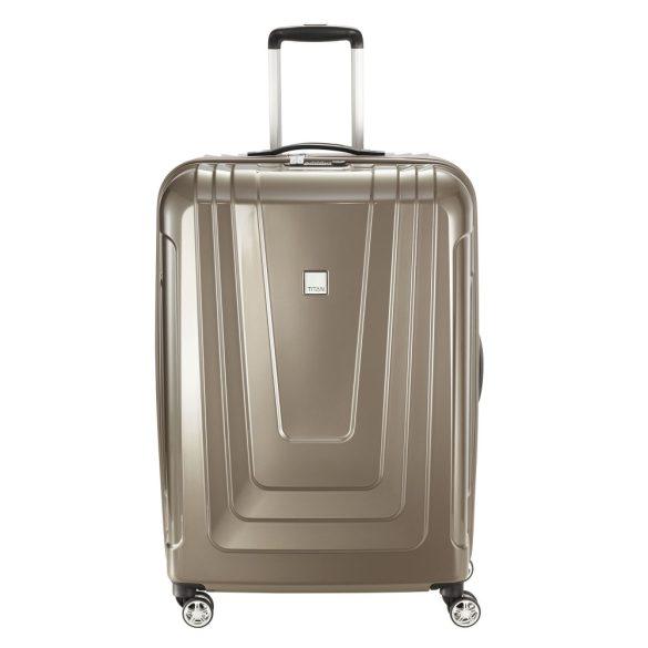 Bőrönd TITAN X-Ray L kávé 4 kerekű nagy bőrönd