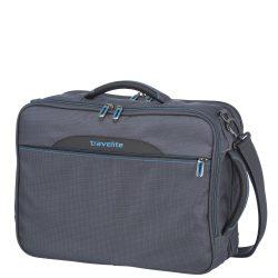 """Kabintáska TRAVELITE Crosslite antracit hátizsákká alakítható laptoptartós 15,4"""""""