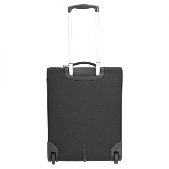 Bőrönd TRAVELITE Cabin fekete 2 kerekű kabin méret