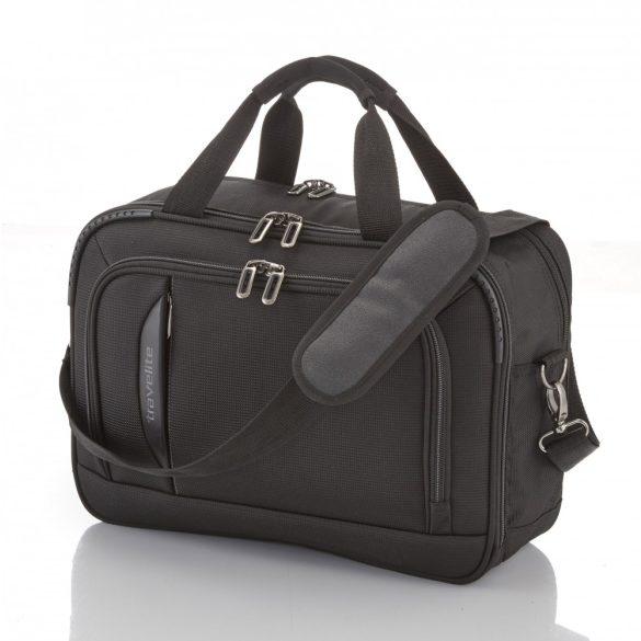 Travelite CROSSLITE fekete laptop tartós elegáns kabintáska kézipoggyász