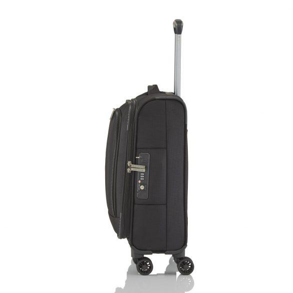 Bőrönd TRAVELITE Crosslite S fekete 4 kerekű kabin méret