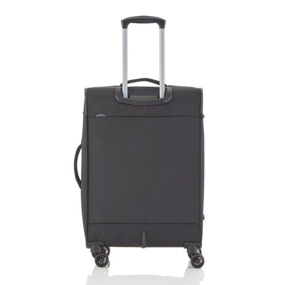 Bőrönd TRAVELITE Crosslite M fekete 4 kerekű bővíthető közepes méret