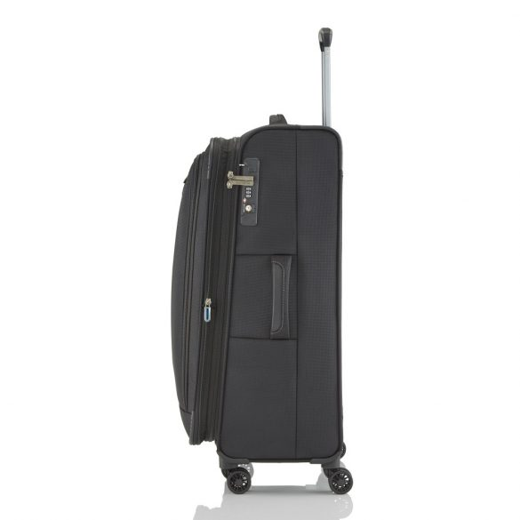 Bőrönd TRAVELITE Crosslite L fekete 4 kerekű bővíthető nagy méret