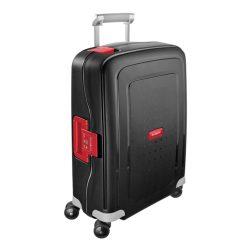 SAMSONITE S'cure spinner (4 kerék) 55cm fekete-piros kabinbőrönd