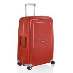 SAMSONITE S'cure spinner (4 kerék) 75cm piros nagy bőrönd