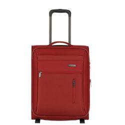 Travelite CAPRI S piros 2 kerekű bővíthető kabin bőrönd