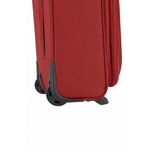 Bőrönd TRAVELITE Capri S piros 2 kerekű bővíthető kabin méret