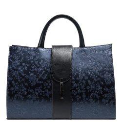 Táska KAREN H 136 Kék Virágos rostbőr női