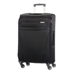 SAMSONITE NCS Auva spinner (4 kerék) 69cm fekete közepes bőrönd