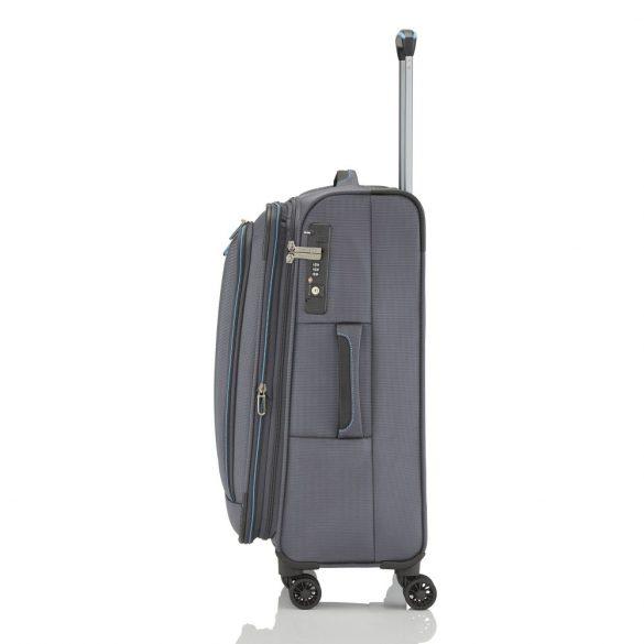 Bőrönd TRAVELITE Crosslite M antracit 4 kerekű bővíthető közepes méret
