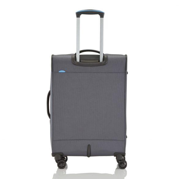 Travelite CROSSLITE M antracit 4 kerekű bővíthető közepes bőrönd