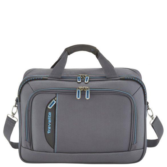 Travelite CROSSLITE antracit laptop tartós elegáns kabintáska kézipoggyász