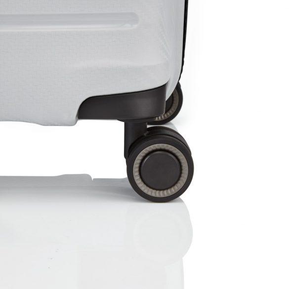 Bőrönd TITAN Highlight S világos szürke 4 kerekű extra könnyű kabin bőrönd