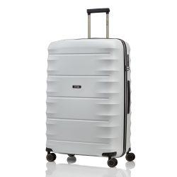 Bőrönd TITAN Highlight L világos szürke 4 kerekű nagy bőrönd