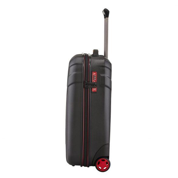 Bőrönd TRAVELITE Vector S fekete 2 kerekű könnyű kabin