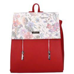 Hátizsák KAREN  9230 rostbőr női Piros virág
