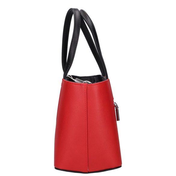 Kézitáska Chiara M 800 Piros-Fekete rostbőr