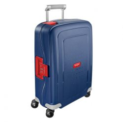 SAMSONITE S'cure spinner (4 kerék) 55cm kék-piros kabinbőrönd
