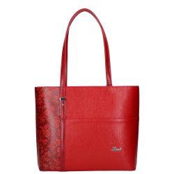 Táska KAREN 1451 rostbőr női Piros virágos