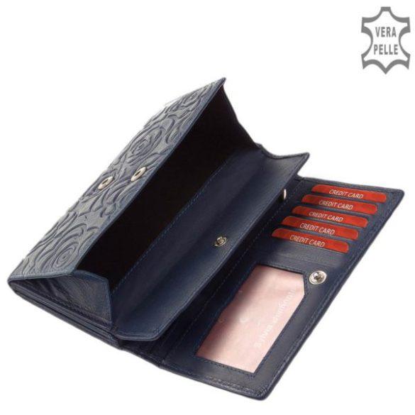 Pénztárca Sylvia Belmonte RO 05 Kék virág bőr