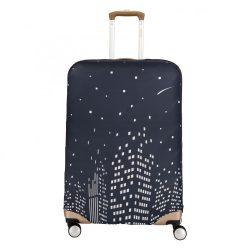 Bőrönd huzat TRAVELITE M közepes bőröndre esti város kép