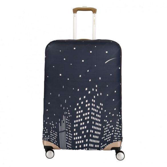 Bőrönd huzat TRAVELITE közepes méretű bőröndre esti város kép