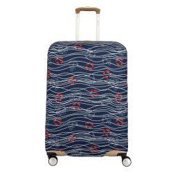 Bőrönd huzat TRAVELITE M közepes bőröndre tengerészes sötét kék