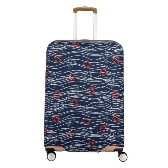 Bőrönd huzat TRAVELITE nagy méretű bőröndre tengerészes sötét kék