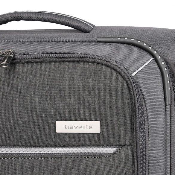 Bőrönd TRAVELITE Arona S antracit 4 kerekű kabin bőrönd