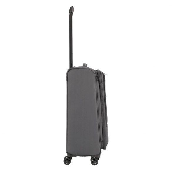 Bőrönd TRAVELITE Arona M antracit 4 kerekű bővíthető közepes bőrönd