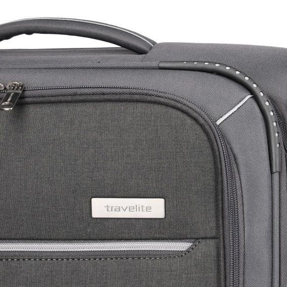 Bőrönd TRAVELITE Arona L antracit 4 kerekű bővíthető nagy bőrönd