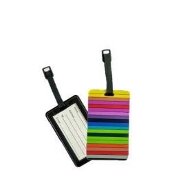 TRAVELITE színes csíkos bőröncímke