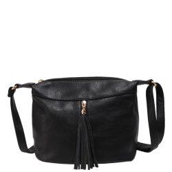 Oldaltáska divatos női Fekete 1418-1