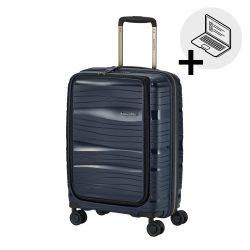 Bőrönd TRAVELITE Motion S kék 4 kerekű laptoptartós kabin bőrönd
