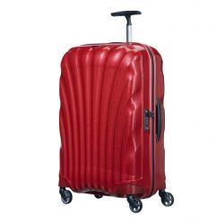 SAMSONITE Cosmolite spinner (4 kerék) 69cm piros közepes bőrönd
